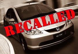 recalled vehicle