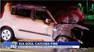 kia soul caught fire